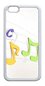 iPhone 6 Cases & Covers Colorful Musical Notes Paper Custom TPU Soft Case Cover Protector for iphone 6 4.7inch ¡§C White
