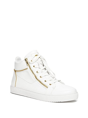 G Ved Gæt Mænds Zain High-top Zip Sneakers Hvide Ku3k7