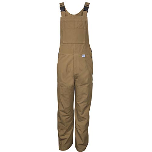 National Safety Apparel 32'' X 30'' Brown Duck 16 cal/cm Flame Resistant Bib Overall With Snap Closure by NATIONAL SAFETY APPAREL INC (Image #1)