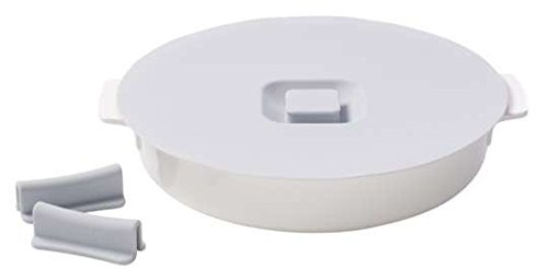 Clever Cooking Round Baking Dish with Lid & Set of Silicone Handles by Villeroy & Boch - Premium Porcelain Baking Dish - Made in Germany - Dishwasher and Microwave Safe - 11 Inches by Villeroy & Boch