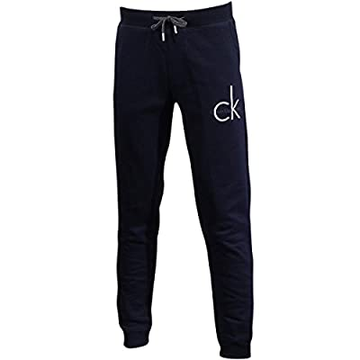 Calvin Klein Men's CK Logo Classic Navy Drawstring Lounge Sweatpants