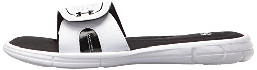 Armour Women's Blanc Ignite Slide noir Vii Sandal Under ZqTwBpw