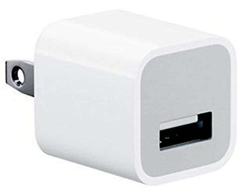 A1385 USB Charger 5V 1A For iPod, iPad, iPhone 5/5c/5s/6/6s/7 Plus OEM (white)