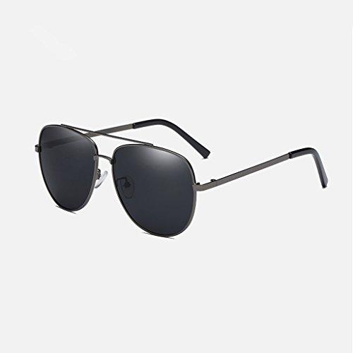 Lens de polarizadas clásica LX de Color al nueva Gray Gafas conducción sol de Gafas viaje lens Gray water LSX Black aire Silver Hombres libre Frame frame silver I6z6xwFq