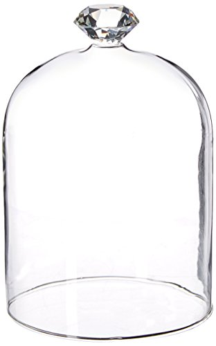 Abbott Collection Gem Top Dome Cloche, Medium, Clear (Bell Jar Collection)