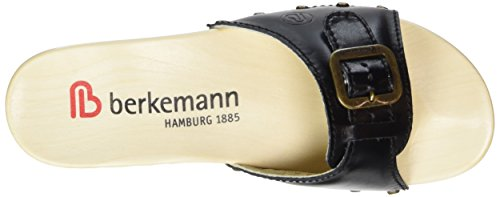 Berkemann Women's Hamburg Mules, Rosa (Altrosa/Kolibri Nubuk/Print) Black (Schwarz 901)
