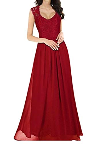 Women Shoulder Ruffle Dress Party Hem Off Lace Coolred Red Line Dance TO7xqpwTd6