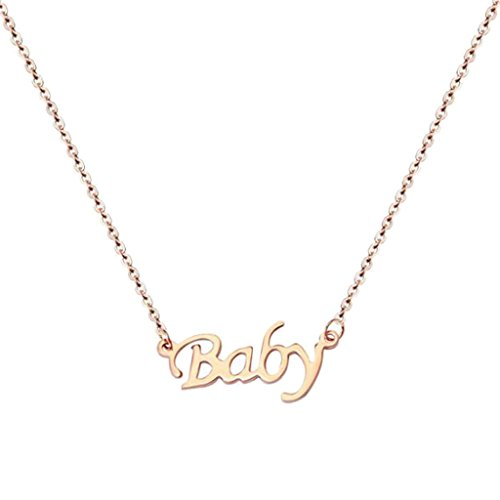 BFF Jewelry Letter Baby Inspired Necklace Pendant Necklaces Girlfriend for Baby Girls Women