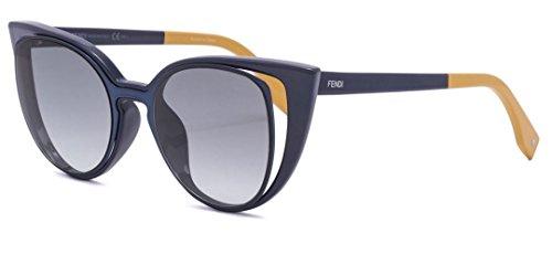 Fendi PARADEYES FF 0136/S NY9/JJ Blue/Gray Gradient Sunglasses