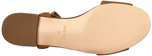 Nine West Women's inch Suede Flat Sandal Dark Natural Suede 16ey8qv