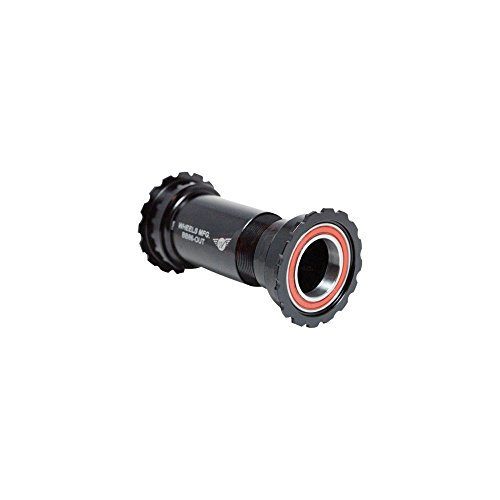 - Wheels Manufacturing Outboard BB86/92 SRAM Bottom Bracket with Angular Contact Bearings Black Threaded Cups