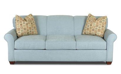 Gentil Calgary Queen Sleeper Sofa In Microsuede Sky