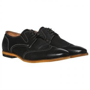 57eb81b5009 Image Unavailable. Image not available for. Colour  Steve Madden Jeneral  Wingtip Dress Shoe For Men - Black Nubuck