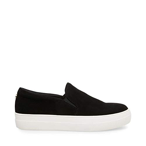 Steve Madden Women's Gills Fashion Sneaker, Black Suede, 9 M US (Fashion Sneaker)