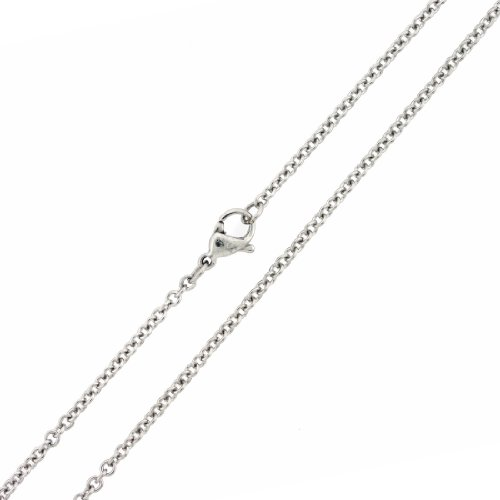 SilverCloseOut Stainless Steel 1.0MM Rolo Cable Chain - (Stainless Steel Cable Necklace)
