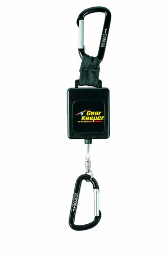Gear Keeper RT3-4548 Retractable Instrument Tether with Aluminum Carabiner, 80 lbs Breaking Strength, 48 oz Force, 22'' Extension by Gear Keeper