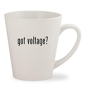 got voltage? - White 12oz Ceramic Latte Mug Cup