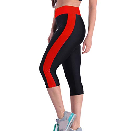 Women's High Waist Active Energy Leggings Slimming Seamless Compression Fit Pants Workout Tights Tummy Control Red