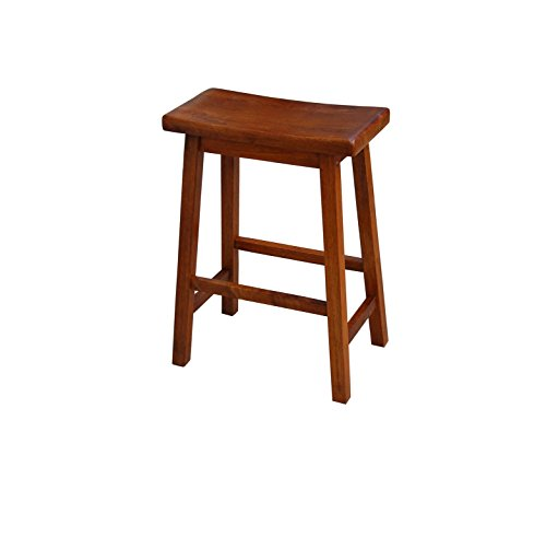Outdoor Wood Finish Bar Stool - Target Marketing Systems The Arizona Collection Contemporary Wooden Dining Saddle Stool, 30