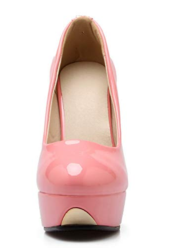 Chiusa Alto Tacco Maiale GMMDB006527 Rosa Punta Donna Flats Pelle di Puro AgooLar Ballet qIwfEtx0