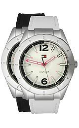 Tommy Hilfiger White Wrist Watch (Tommy Hilfiger Synthetic White Dial Women's Watch #1781191)
