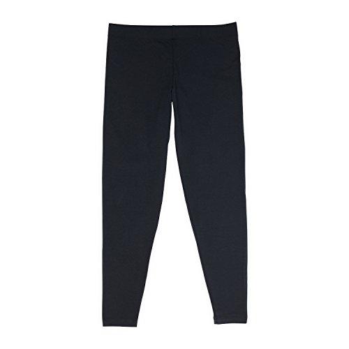 Womens Black Legging, High-Rise Waistband, No-Show Through, for Gym & Yoga, Sarah Collection, L