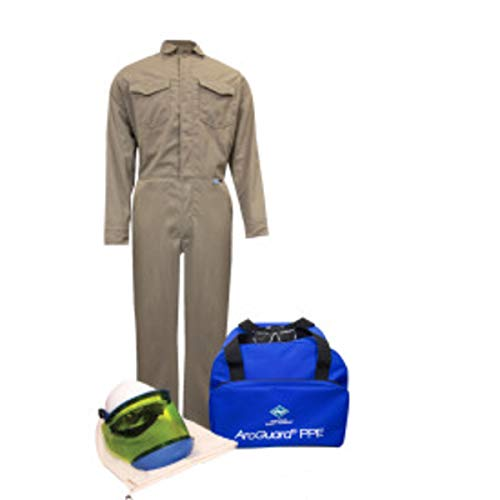 National Safety Apparel Large Khaki DuPont Protera 8 cal/cm Flame Resistant Arc Flash Kit by NATIONAL SAFETY APPAREL INC (Image #1)