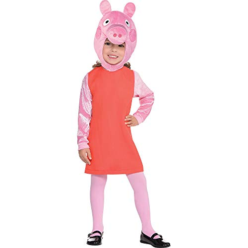 Suit Yourself Peppa Pig Halloween Costume for Toddler Girls, 3-4T, Includes Accessories -