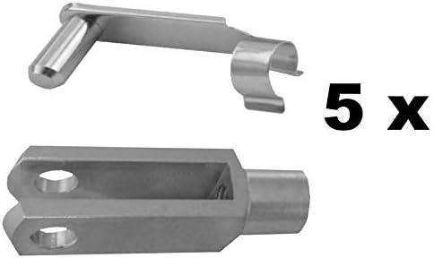 M5 Gabelkopf 5x20 Sicherungsbolzen//ES-Bolzen verzinkt 2 St/ück