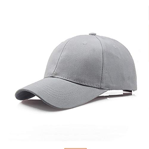 Unisex Classic Baseball Cap Outdoor Sunscreen Uv Adjustable Sun Hat Many Colors Packable Dad Hat Gray