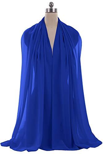 ANTS Women's Chiffon Bridal Evening Dresses Shawl Wraps Color Royal Blue Size 18