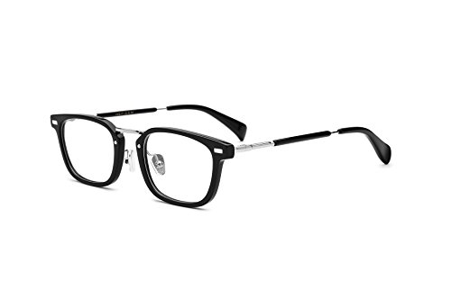 HEPIDEM Acetate Square Glasses Frame Men 2017 New Prescription Glasses Women Optical Frame Eyewear 81026 (Black - Eyeglass New Frames Designer