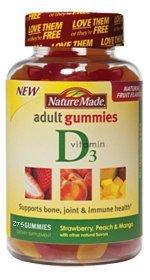 Nature Made vitamine D adultes Gummies - 275 Gummies