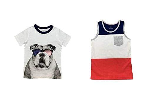 Carter's Boy T-Shirt 2 Pack (Patriotic Bulldog/Tank Top, - Bulldog Tank