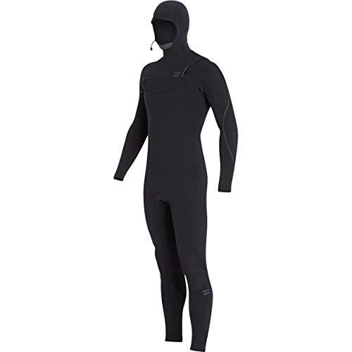 Billabong 4/3mm Furnace Carbon Chest Zip Hooded Full Wetsuit - Men's Black, MT