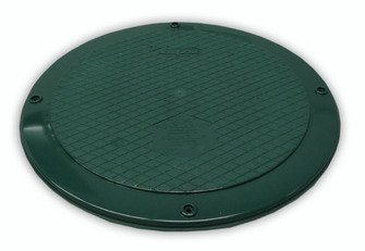 Polylok 300415-C 15'' Flat Septic Cover for use with Corrugated Pipe by Polylok