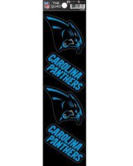 Rico Industries NFL Carolina Panthers Die Cut 4-Piece The Quad Sticker Sheet