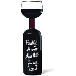 BigMouth Inc Ultimate Wine Bottle Glass, Holds Full Bottle of 750ml Wine, Funny Gag Gift