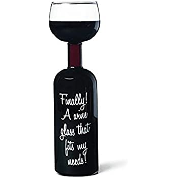 BigMouth Inc Ultimate Wine Bottle Glass, Holds Full Bottle of 750ml Wine, Funny Gag Gift