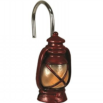 River's Edge Red Lantern Shower Curtain Hook (Best River's Edge Products Curtains)