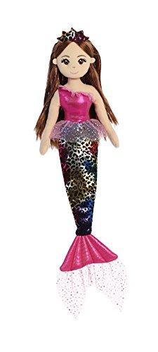 (Aurora World Sea Sparkles Mermaid, Jungle Cheetah Fuchsia)