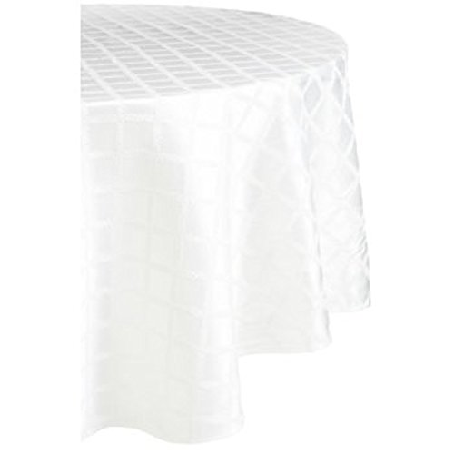 90 Laurel Leaf Table Cloth in White