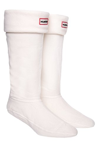 Hunter Women's Boot Socks Cream LG (Women's Shoe 8-10)