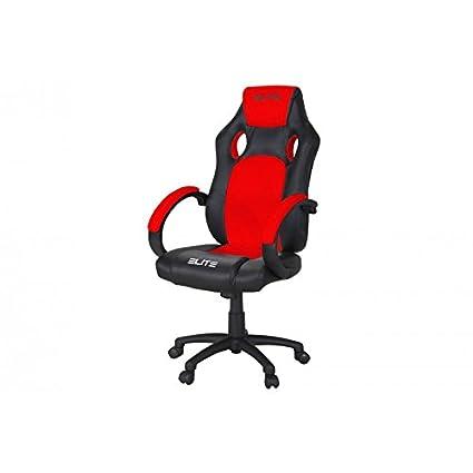 Oficina de y Gaming silla Elite MG – 100 piel sintética verschidene Colores, color rojo