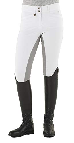 Ovation 467847 Women's Celebrity Slim Secret EuroWeave DX Front Zip Full Seat Breeches, White, Size: 28 Long