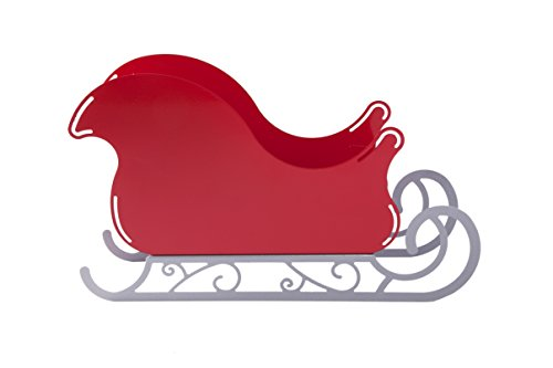 [Santa Sleigh Christmas Decoration - small Ornament with Scroll base] (Christmas Sleigh Candy Dish)