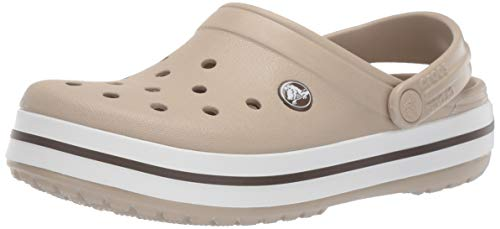 - Crocs Crocband Clog, Cobblestone/Walnut, 6 US Men/ 8 US Women M US