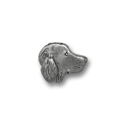 hot Pewter Golden Retriever Lapel Pin by The Magic Zoo
