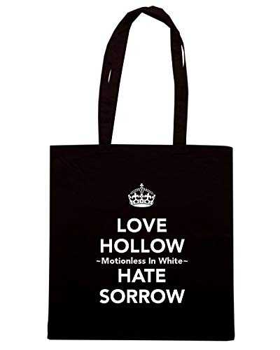 Borsa Shopper Nera TKC0427 KEEP CALM AND LOVE HOLLOW MOTIONLESS IN WHITE HATE SORROW