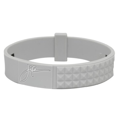 (Phiten Titanium Bracelet, Light Grey, 7.5-Inch/Large)